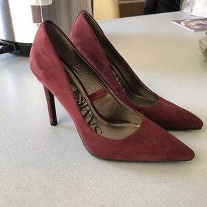 Sam & Libby Shoes - Maroon pumps